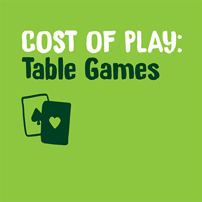 Cost of play table games